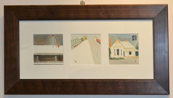 "Sharon Roberts: ""Looking back - Portsea March 1971"", Watercolour, 38 x 70cm"