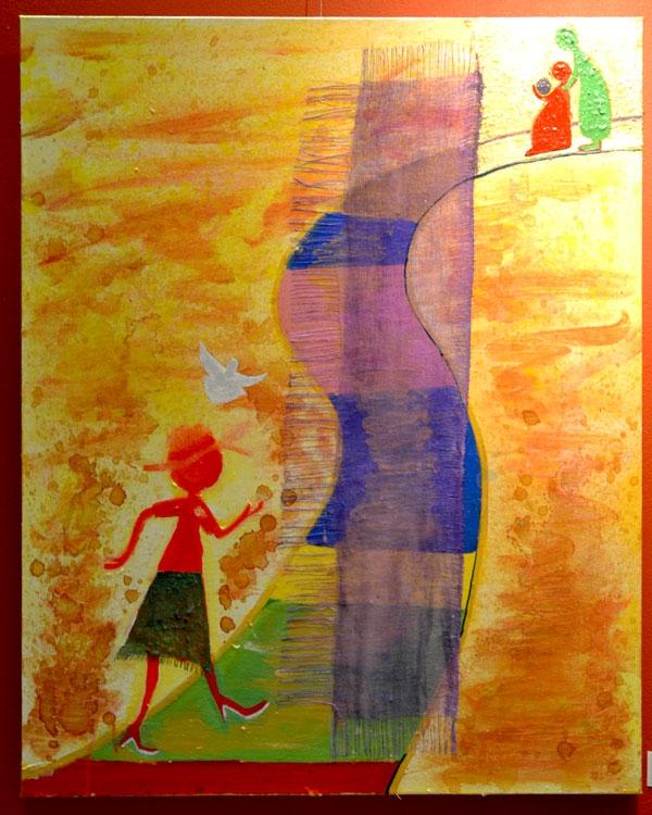 """Journey to Christmas"", acrylic on canvas, 61cm x 85cm"