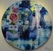 """Maranatha - Joyful Hope"", photoprint and oil pastel on canvas, 74cm diameter"
