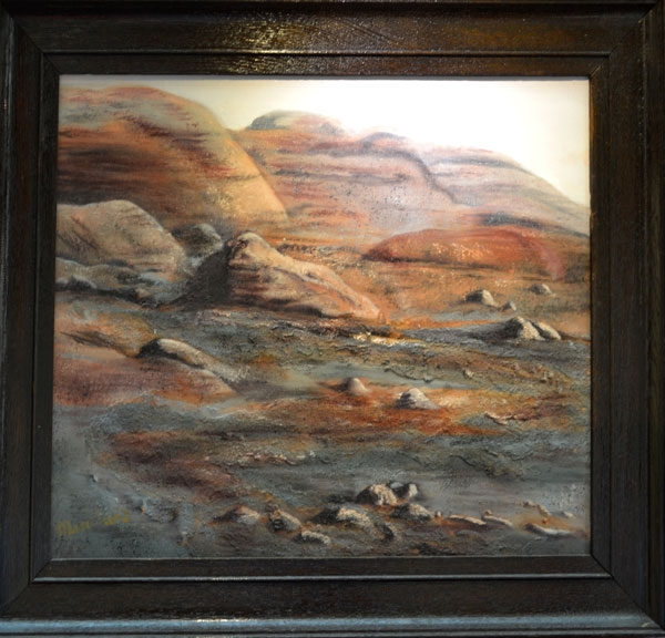 The blast of God's Breath: Psalm 18:15, Oil, 52cm x 62cm