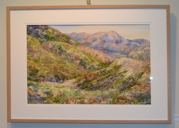 "Roslyn Hartwig: ""Gentle song whispers through the hills"", Watercolour, 50 x 70cm"