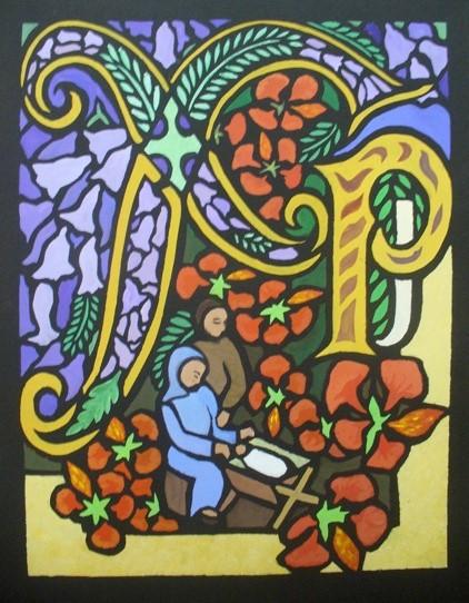 "Geraldine Wheeler: ""A Chi-rho page: jacaranda and poinciana"""