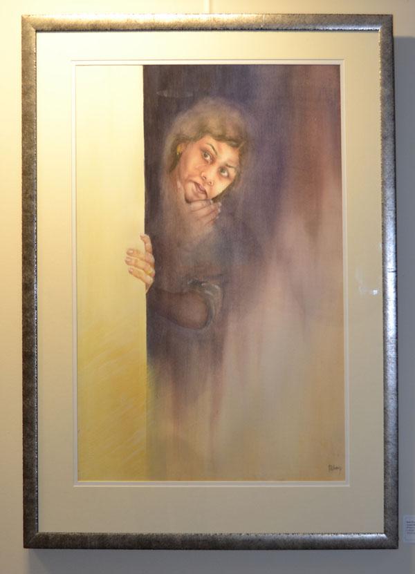 """Ruth Elvery: """"Around the Corner"""", Mixed media, 75cm x 90cm"""