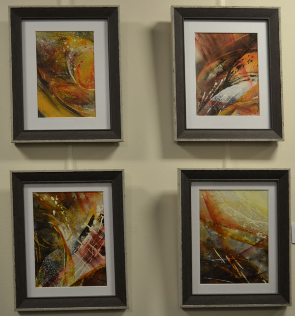 "Ruth Elvery: ""Sometimes a light surprises"", Acrylic, Series of 4 each 23cm x 28cm"